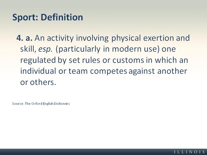 definition sport