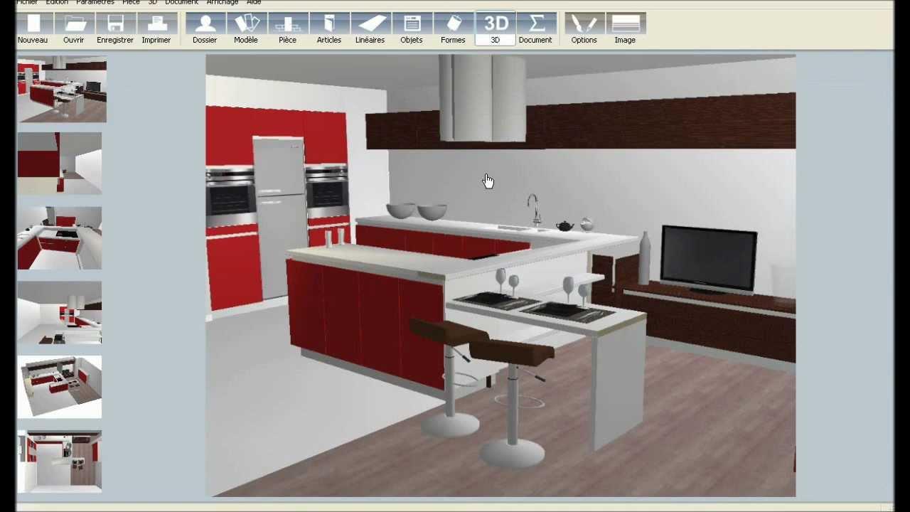 logiciel cuisine 3d