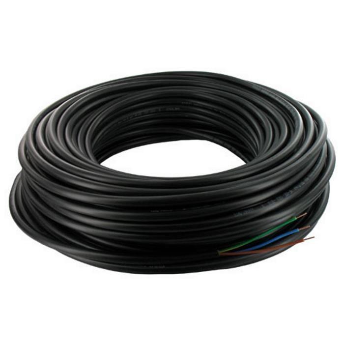 C/âble/: 0,75/mm R/éf/érences 3182Y 3183Y Rouleau de c/âble flexible noir Rouleau complet et longueurs personnalis/ées disponibles 2 ou 3/fils 1,0/mm et 1,5/mm